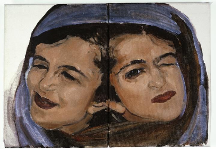 »ladan + laleh bijani«  öl/leinwand, 2-teilig  je 18cm x 13cm  2004