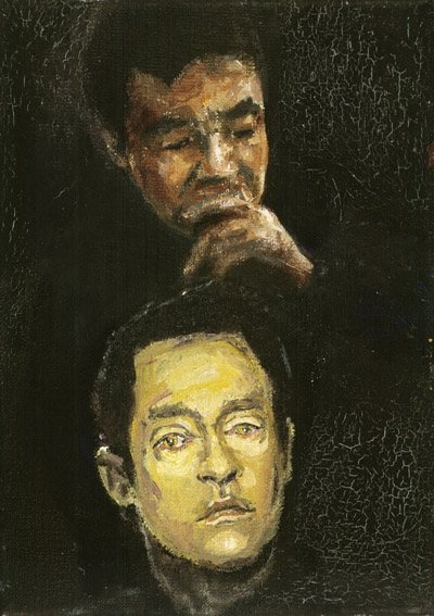 »murkami + deta«  öl/leinwand  18cm x 13cm 2004