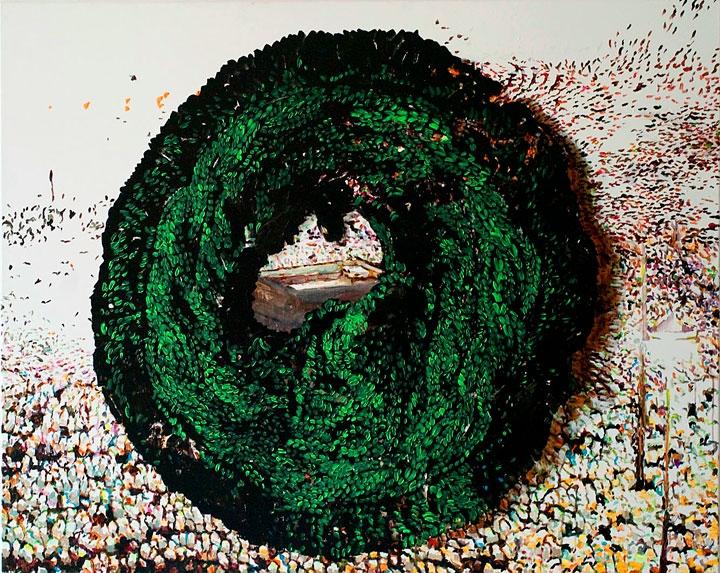 »mecker« öl/leinwand 120cm x 135cm 2011