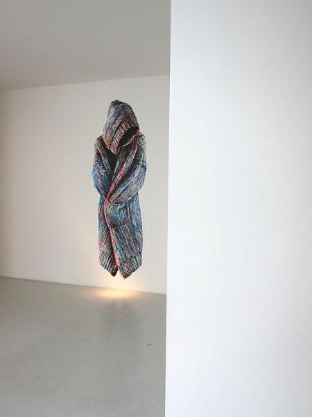 »oT« acryl/papier/ausgerissen + tapeziert  265cm x 132cm  2010 merci, muriel!