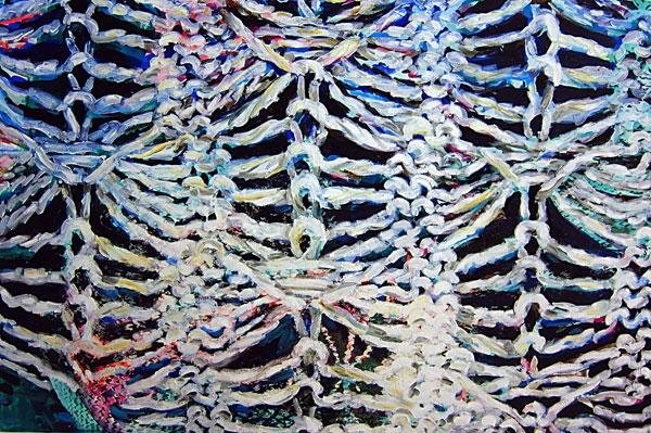 »Skinless and Boneless« öl/leinwand 80cm x 120cm 2011