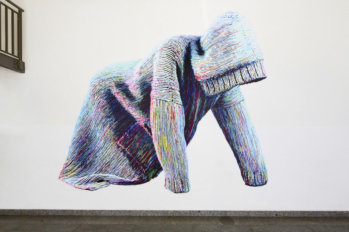 »Ewig währt am längsten. Innere Größe« Acryl/Papier gekleistert 320cm x 395cm Brechthaus Berlin