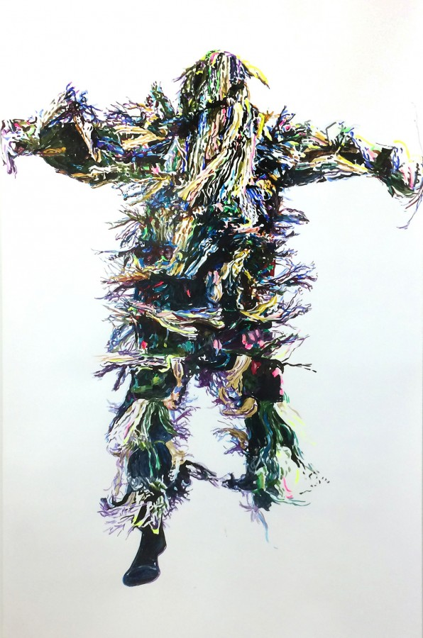 »Oliversum« 210cm x 135cm Acryl auf Papier
