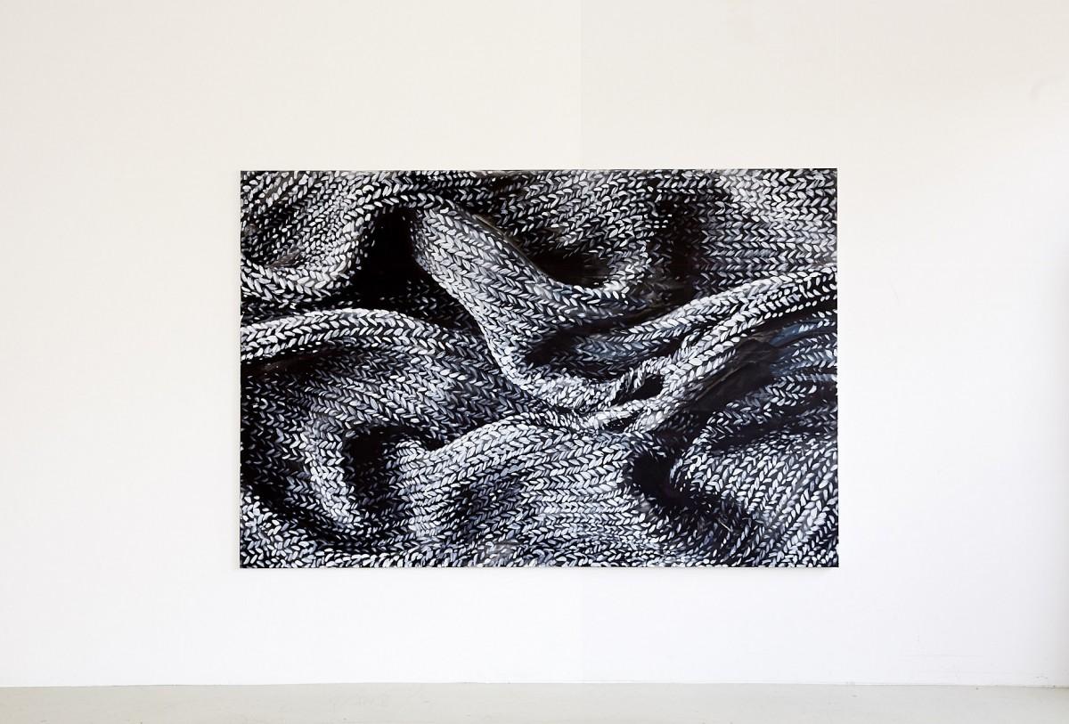 »1 Tag Ritual, Darkroom« 160cm x 240cm   Acryl/Leinwand 2019