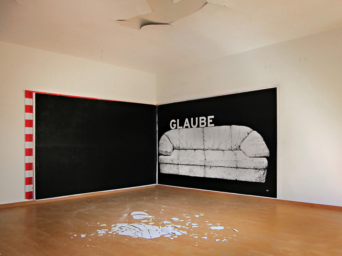 »letzter Raum« 172cm x 570cm im »geilen block« von leila bock St Gallen