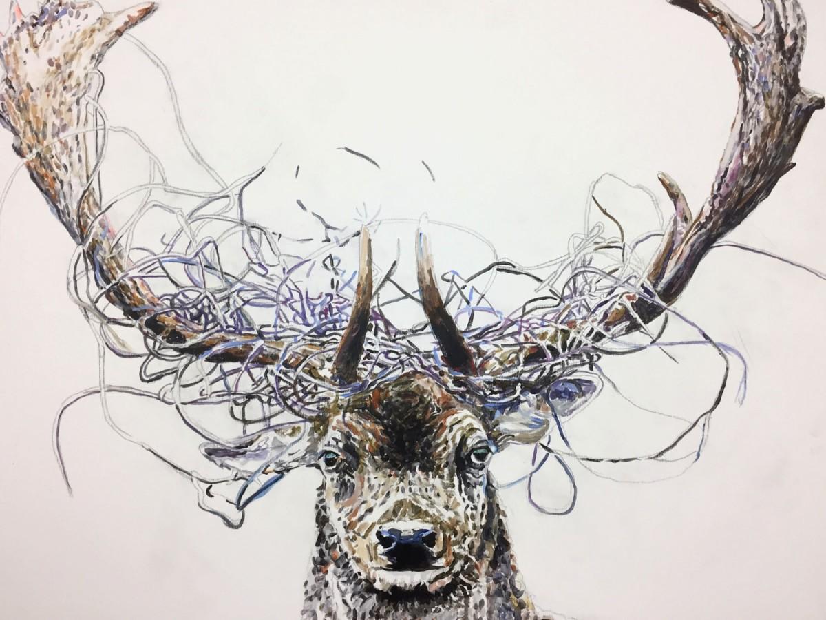 »Hürsch 1« Acryl/Leinwand 60cm x 80cm 2017